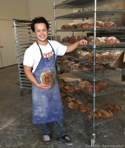 Jonathan Eng with bread