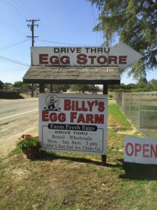Billy's Egg Farm sign