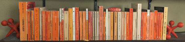 shelf o' Penguin paperbacks